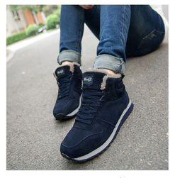 Kürk ile kış spor ayakkabı