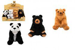 Medveď sediaci plyš 16cm 4 farby 8ks v boxe 0m + RM_56780220