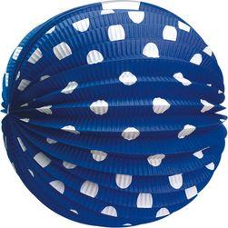 Lampion okrągły papierowy niebieski 25 cm RZ_208421