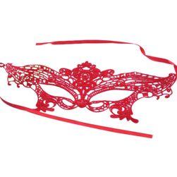 Zmysłowa maska na oczy w czerwonym lub różowym kolorze