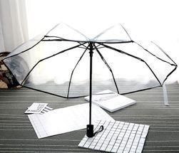 Прозрачный складной зонт- 4 цвета