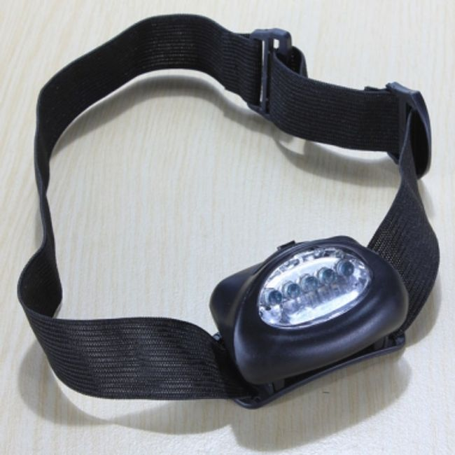 5 LED diodová čelovka na 3x AAA baterie 1