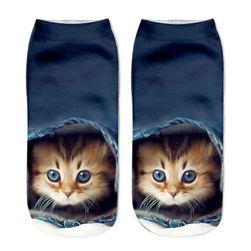 Șosete de damă cu motiv pisicuțe