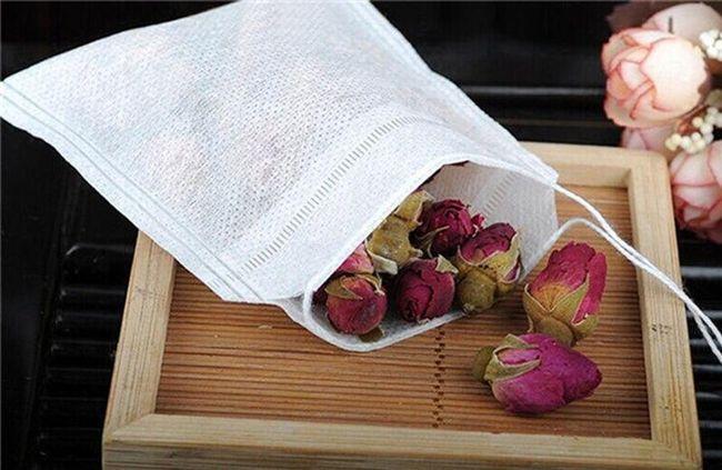 Prázdné čajové sáčky z netkané textilie - 100 ks 1