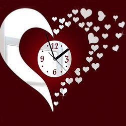Ceas modern pentru perete - inimioare