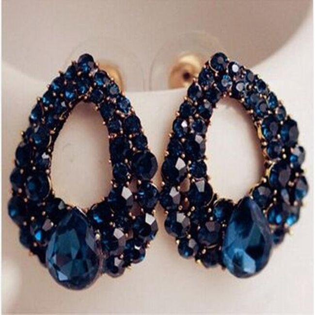 Элегантные серьги-капельки - в синем цвете 1