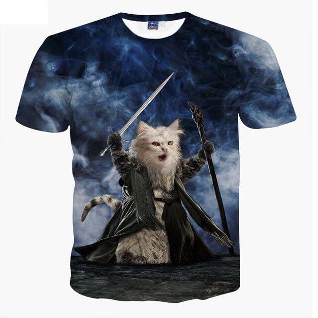Dětské unisex triko s kočkou 1