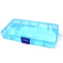 Uniwersalny plastikowy pojemnik z przegródkami 17,5 x 10,2 cm - kilka kolorów