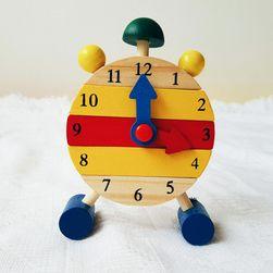 Dřevěné hodiny pro nácvik času