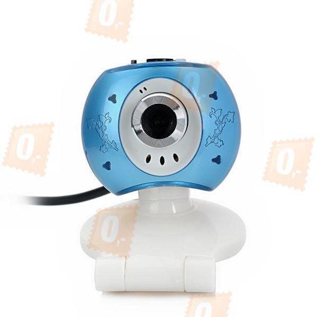 USB webkamera s mikrofonem - modrobílá 1