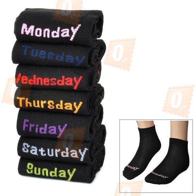 Sada pánských ponožek s názvy dnů v týdnu 1