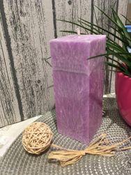 Svíčka fialový kvádr 16x6 cm