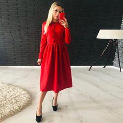 Ženska haljina sa dugačkim rukavima Lidia