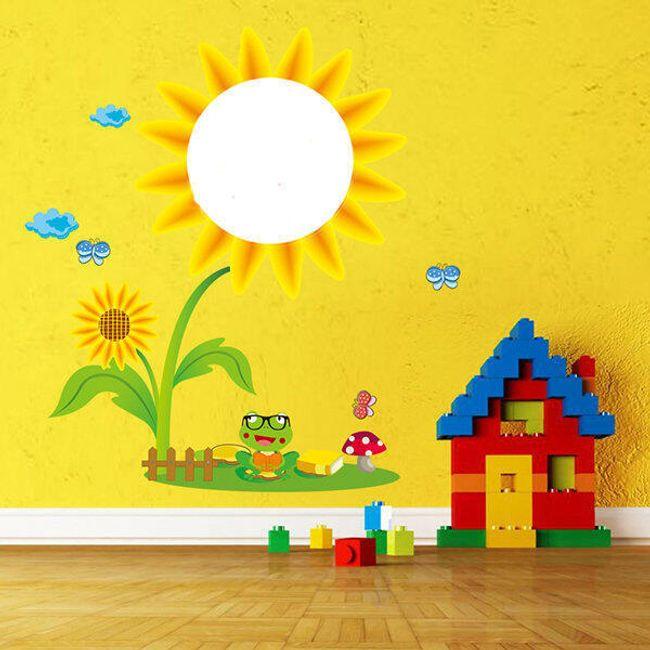 Gyerek matrica a falon - Napraforgó 1