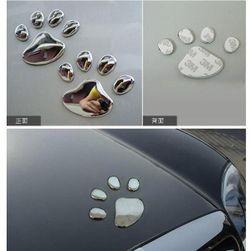 Nalepnice za auto u obliku psećih šapa