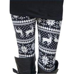 Ocieplane legginsy z damskim wzorem