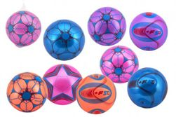 Lopta farebný nafúknutý guma 23cm mix farieb v sieťke RM_00850347