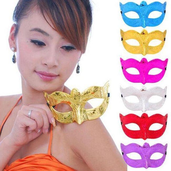 Stylová karnevalová maska - 4 barvy 1