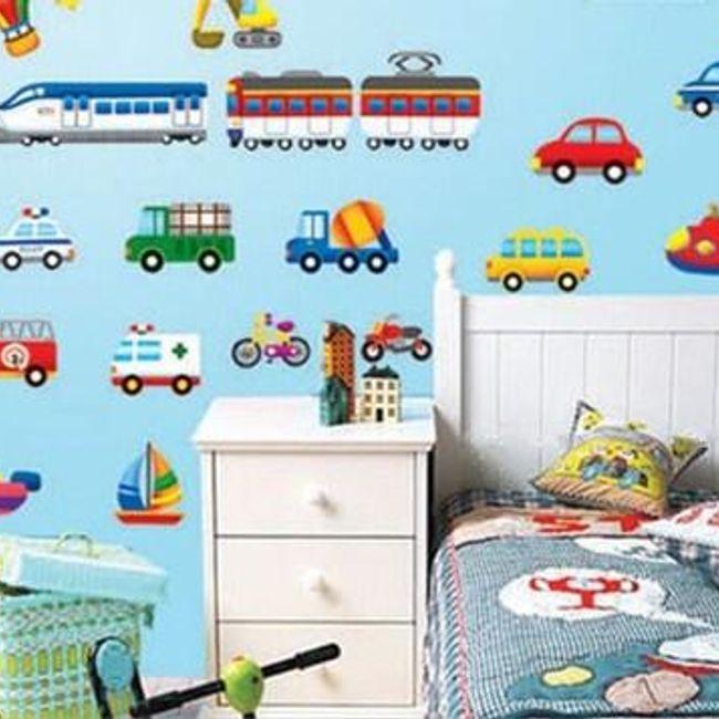 Fantovske stenske nalepke - avtomobili, čolni, letala 1