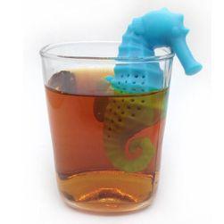 Čajové sítko ve tvaru mořského koníka - 5 barev