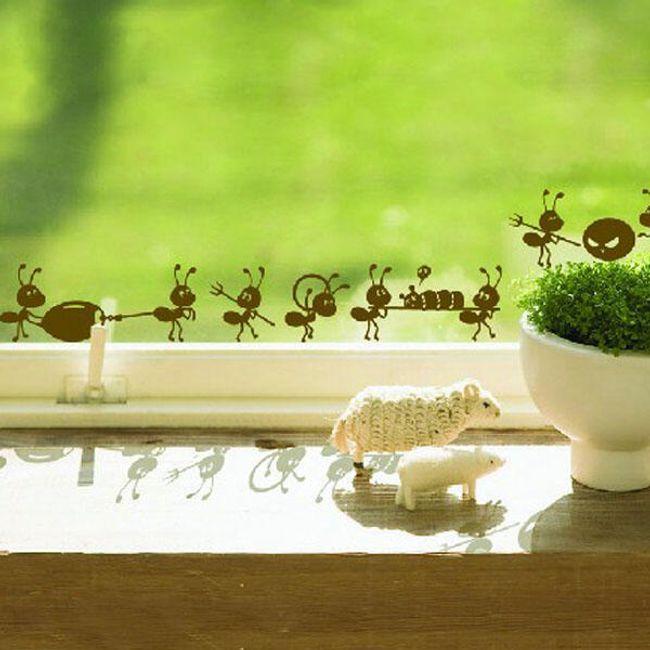 Autocolant pentru ferestre sau pereți - furnici 1