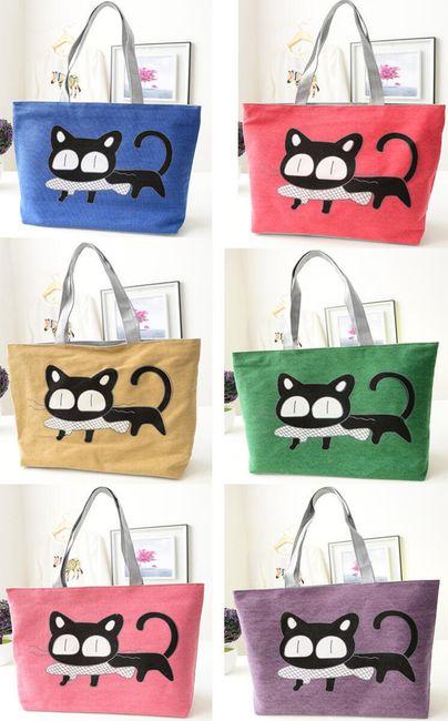 Cica mintás női táska-5 szín