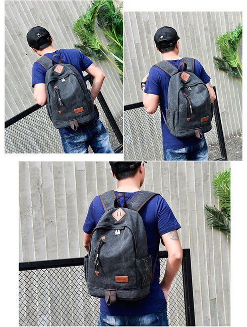 Férfi hátizsák alkalmi kivitelben - 4 változat