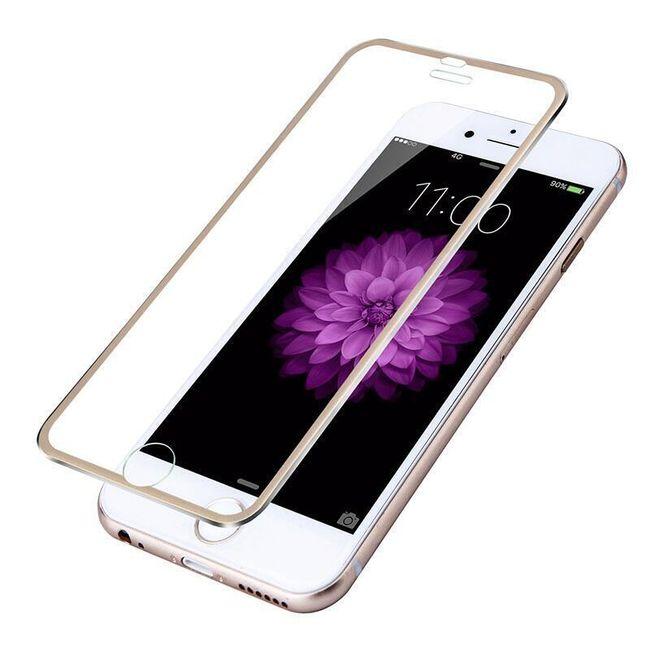 Tvrzené sklo s kovovým rámečkem pro iPhone 7/6S/6 1
