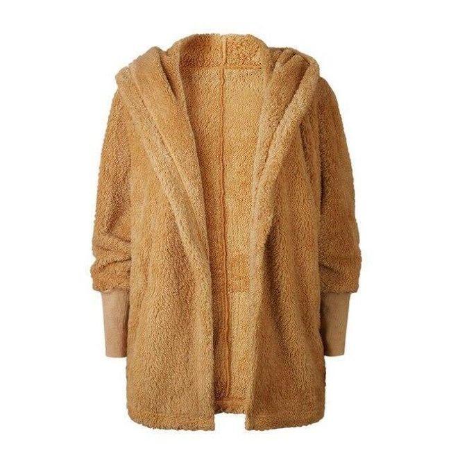 Dámský zimní kabátek s kapucí - Khaki-velikost č. 2 1