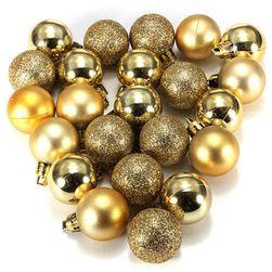 Błyszczące ozdoby świąteczne - 24 sztuk w zestawie