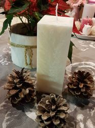 Svíčka bílý kvádr 16x6 cm