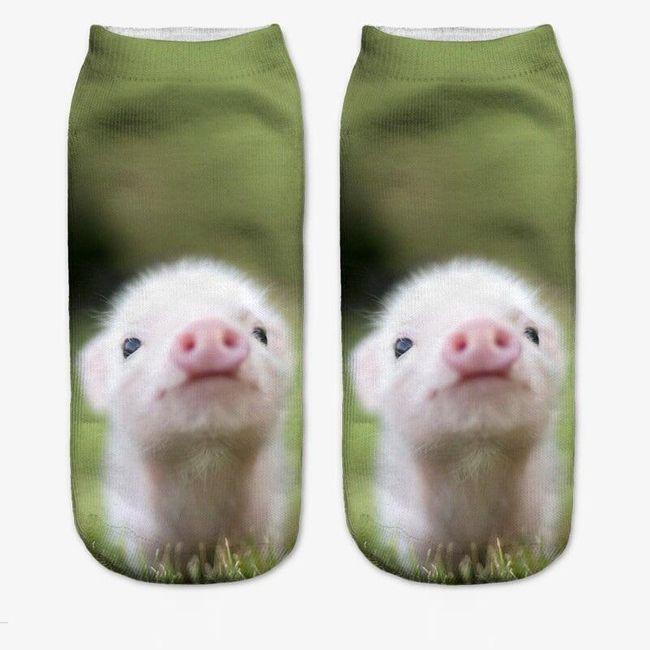 Dámské ponožky s roztomilými zvířátky 1