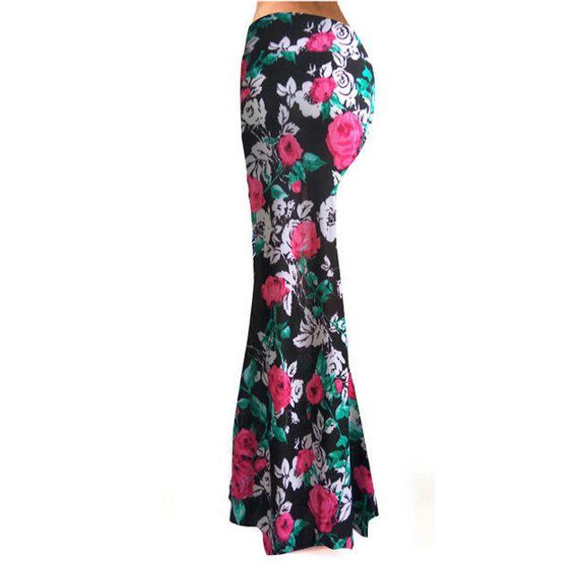 Dlouhá sukně se zajímavým potiskem - 4 - velikost č. 6 1