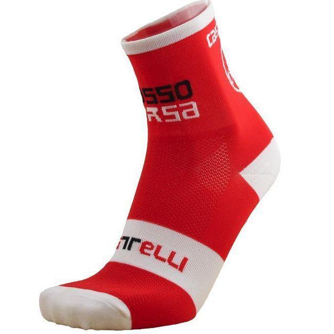 CASTELLI moške športne nogavice - rdeče 1