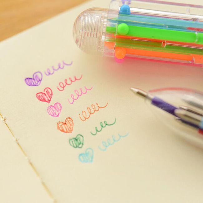 Vícebarevné pero do školy 1