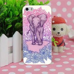 Kemény műanyag borító elefánttal iPhone 4 - 6S plus készülékhez
