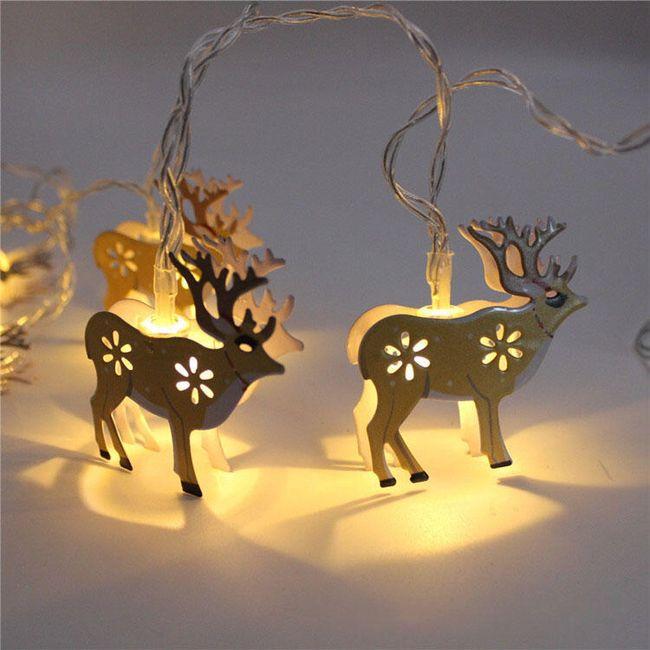 LED vánoční řetěz se soby 1