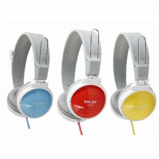 Stereo sluchátka s mikrofonem ve 3 barevných provedeních 1