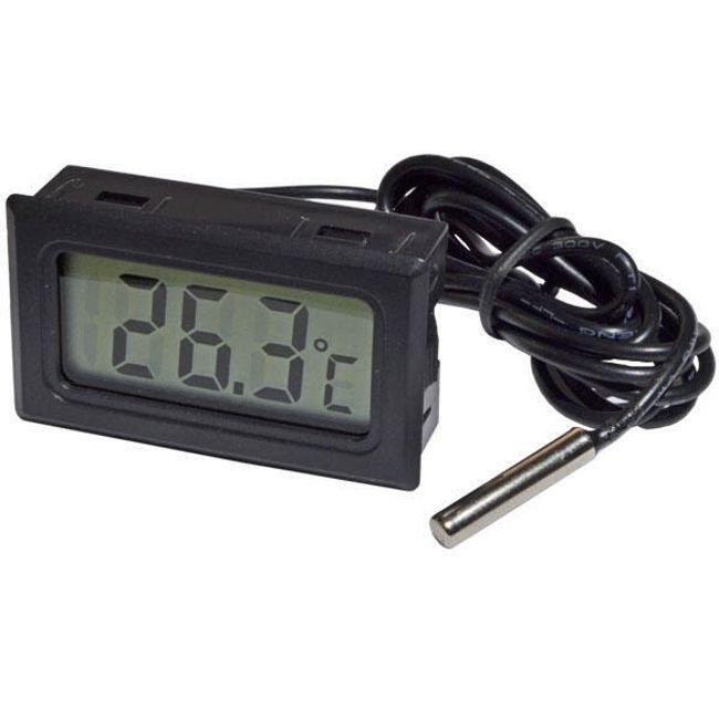 Термометър с LCD дисплей, оборудван с външен сензор 1