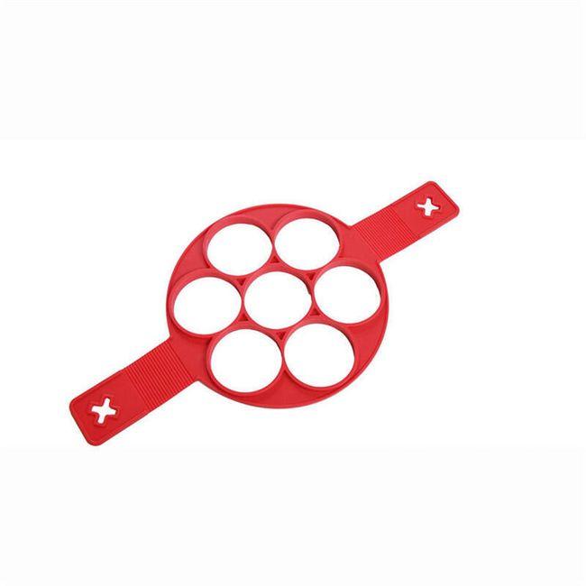 Силиконовая форма для оладий- красный цвет 1
