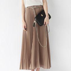Długa plisowana spódnica z wysokim stanem - 9 kolorów