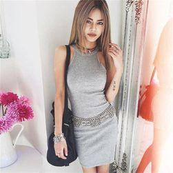 Mini obleka - 2 barvi siva, velikost 2