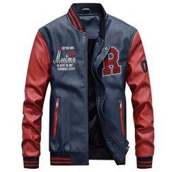 Moška jakna Ashton - 4 variante Modra-XXL