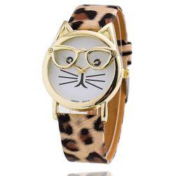 Dámské kočičí hodinky - 10 barev
