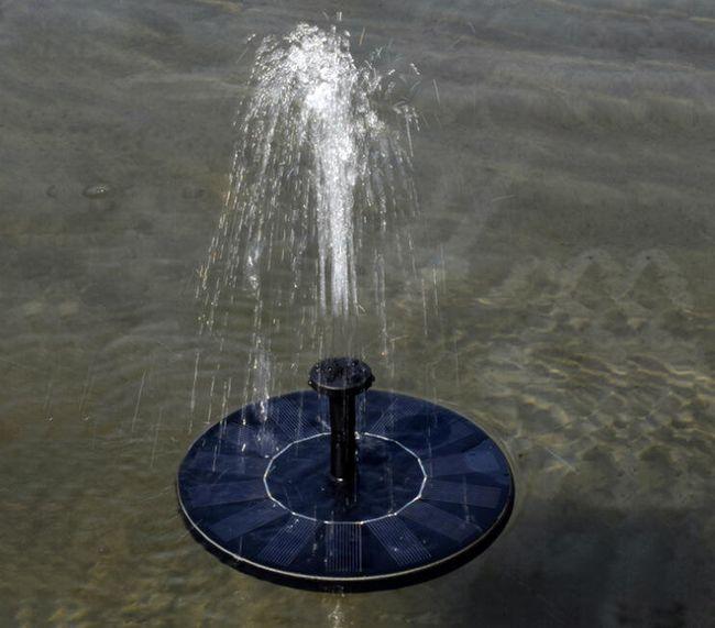 Plovoucí solární fontána na zahradu 1