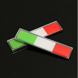 Naklejka w postaci włoskiej flagi