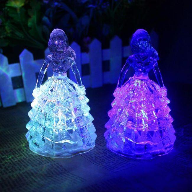 LED lampička v podobě princezny 1