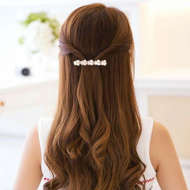 Ozdobná spona do vlasů s kamínky - 5 barev 1