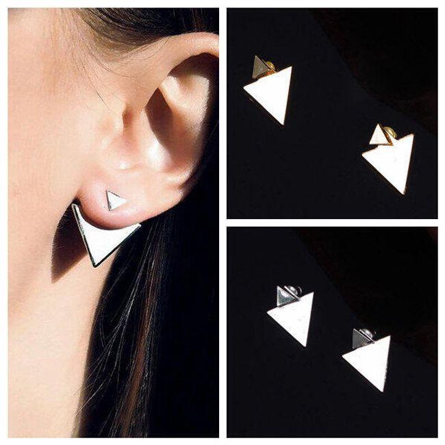 Háromszög alakú fülbevaló két színben 1