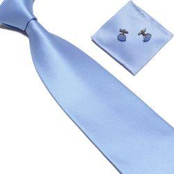 Krawat z chusteczką i spinkami do mankietów - 15 kolorów